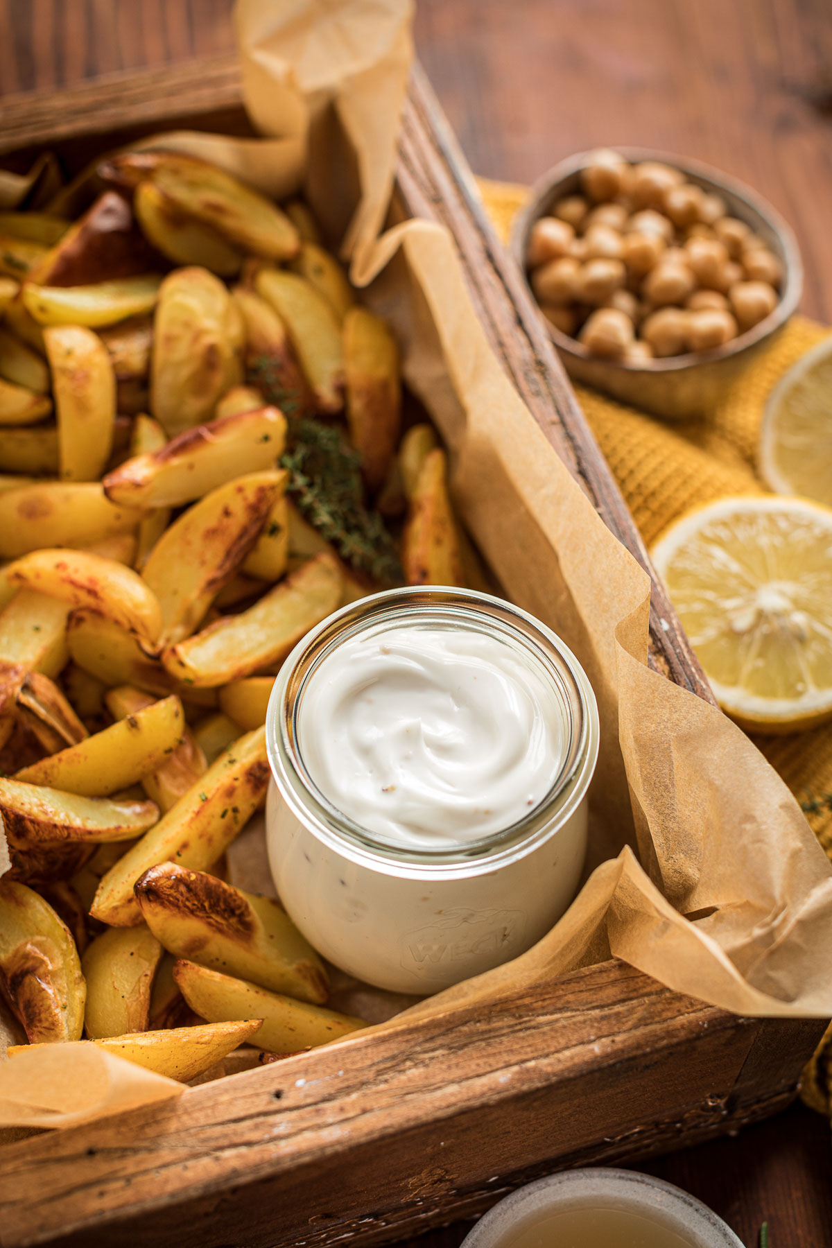 maionese vegana di aquafaba senza uova senza soia con patate al forno easy vegan mayonnaise with aquafaba soy-free mayo ready in 2 minutes with baked potatoes