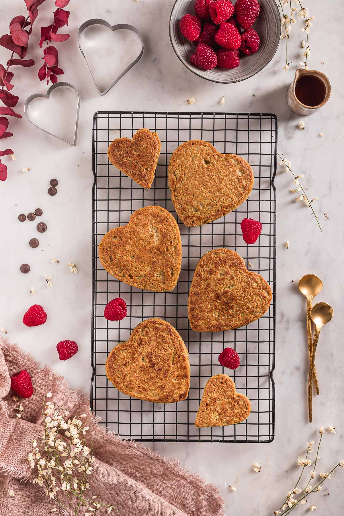 come fare i pancakes vegan senza glutine all'avena e cioccolato light senza frutta secca pancakes di San Valentino how to make blender gluten-free vegan oat pancakes nut-free