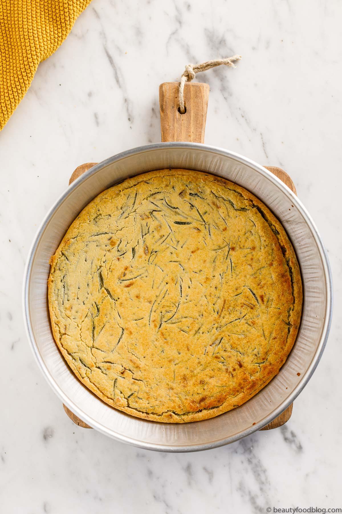 farinata di agretti al forno baked farinata