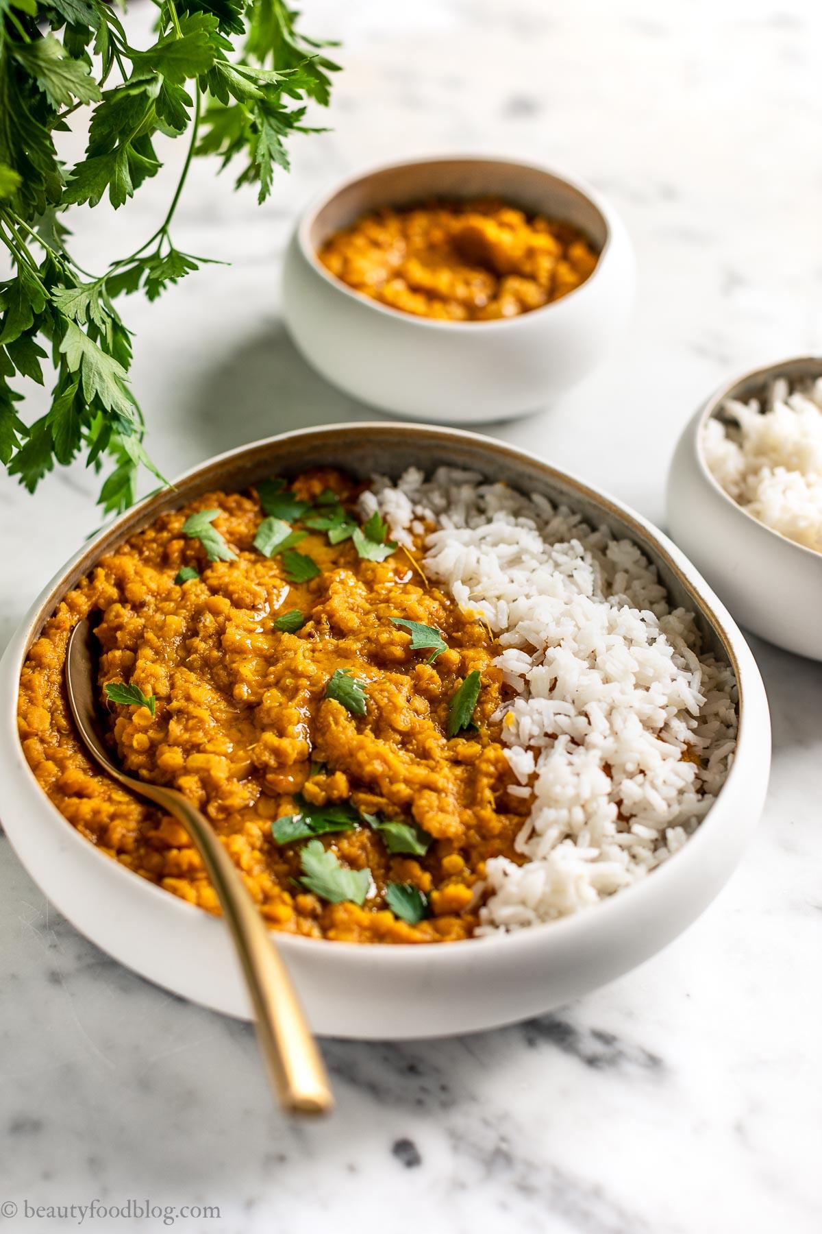 Ricetta Lenticchie.Dahl Di Lenticchie Rosse Indian Red Lentil Dal Beauty Food Blog