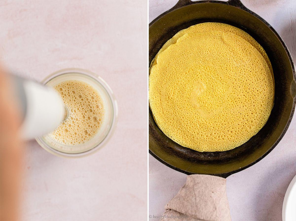 come preparare le Crespelle con Farina di Ceci Senza Uova Senza Glutine crepes proteiche how to make Gluten-free Vegan Chickpea Crepes