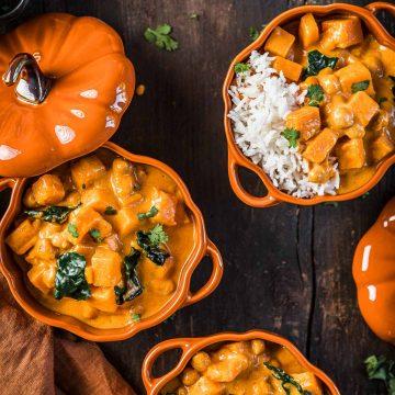 curry alla zucca ricetta vegana autunnale
