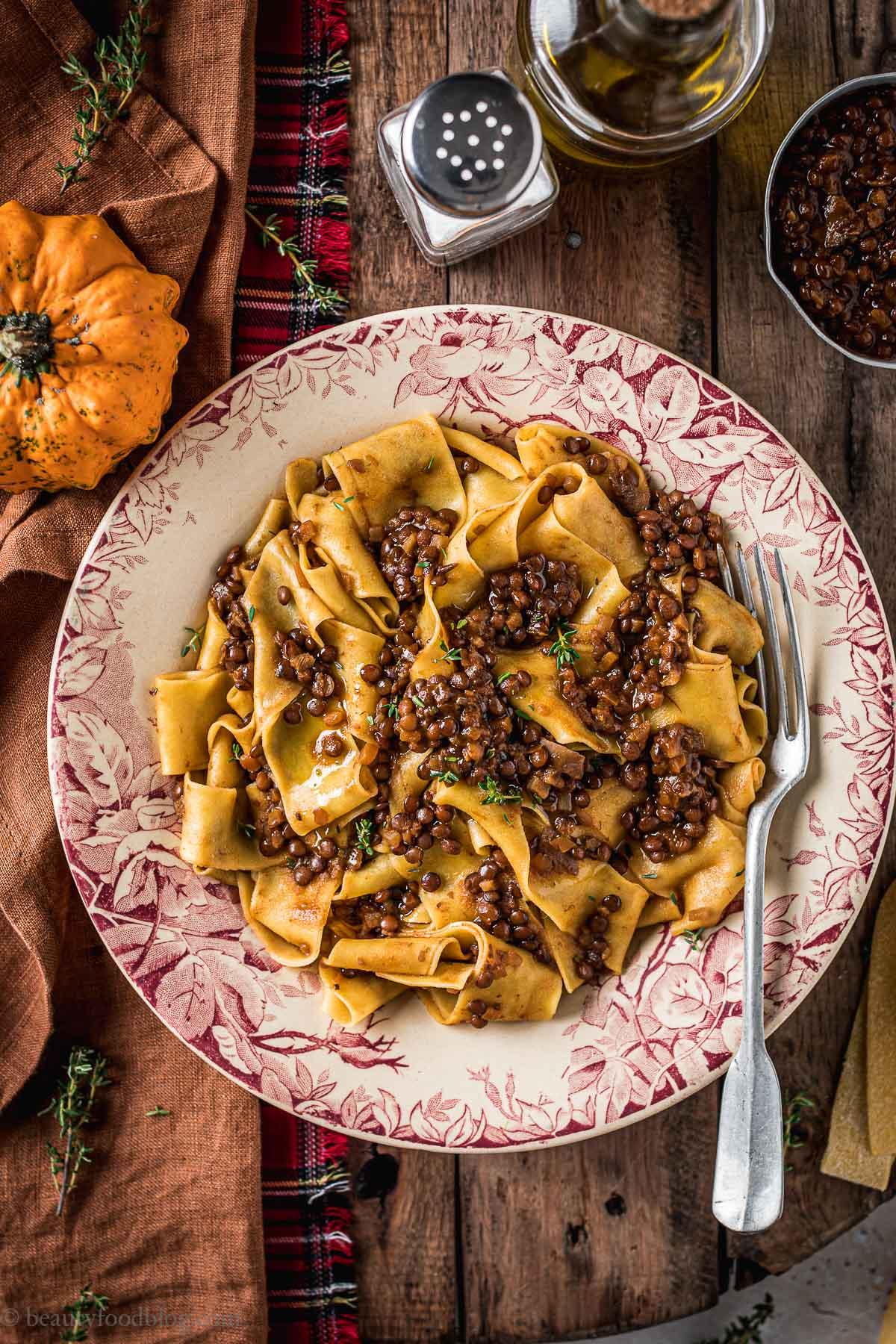 Ricetta Ragu Lenticchie.Ragu Di Lenticchie E Funghi Vegan Mushroom And Lentil Ragu