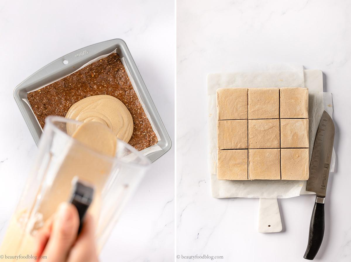 cheesecake al pan di zenzero senza cottura vegan no-bake gingerbread cheesecake gluten-free FB