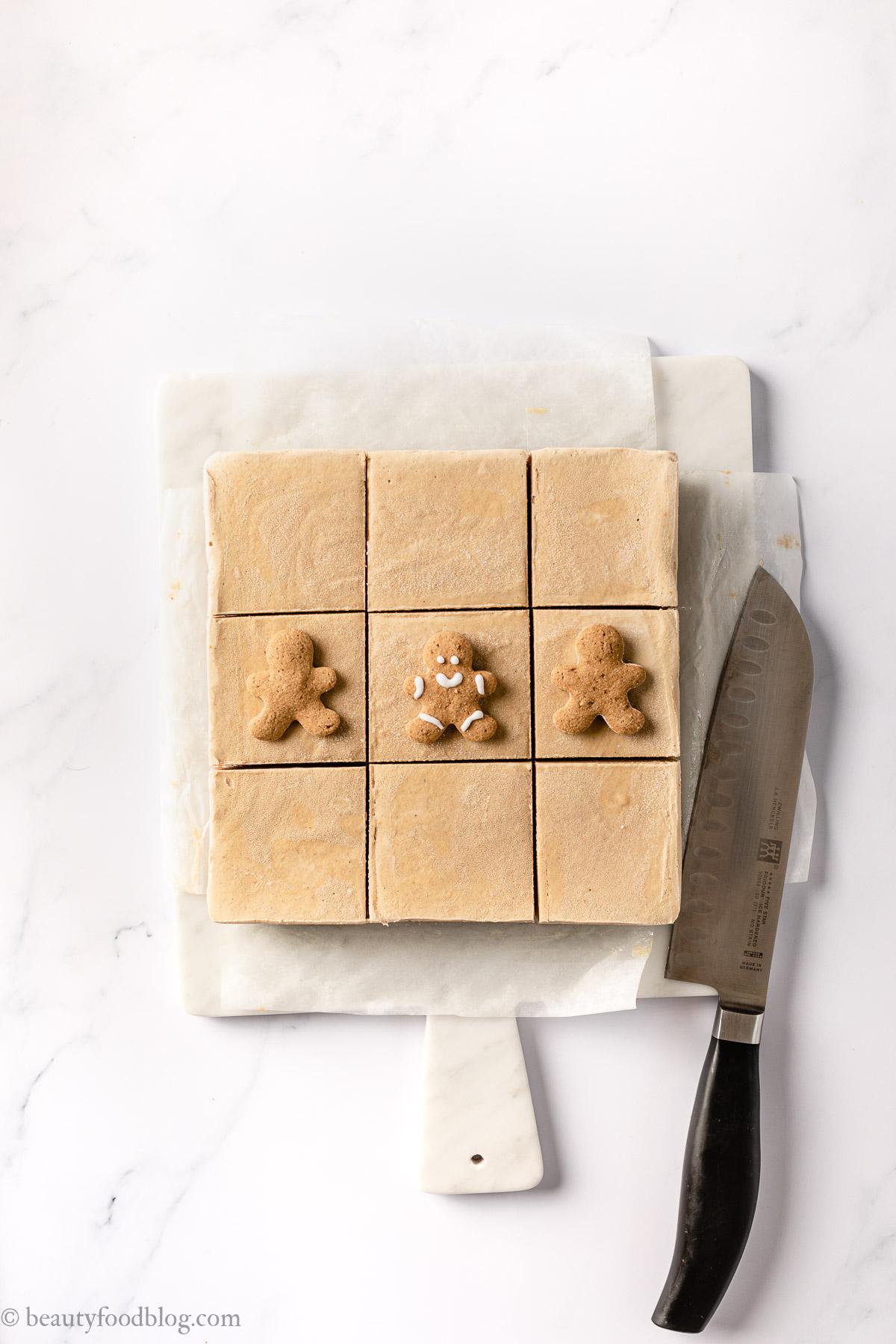 come fare la cheesecake al pan di zenzero senza cottura per Natale how to make vegan no-bake gingerbread cheesecake gluten-free Christmas