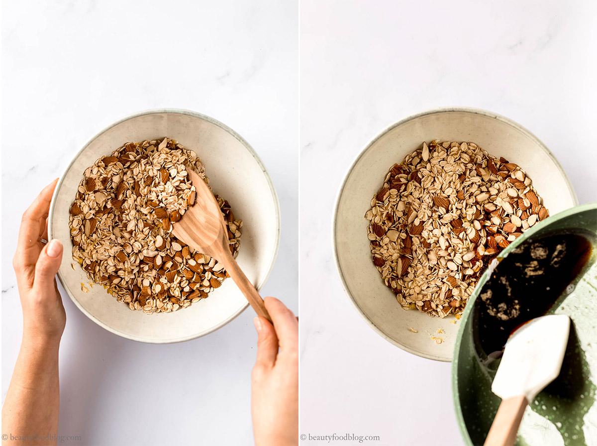 come fare la granola fatta in casa granola croccante cocco e fragole how to make homemade crunchy granola