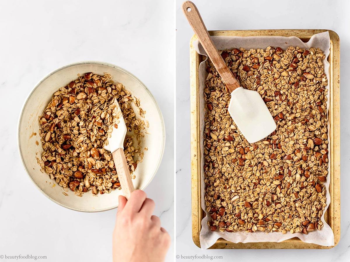 come fare la granola fatta in casa granola croccante cocco e fragole how to make homemade crunchy vegan granola
