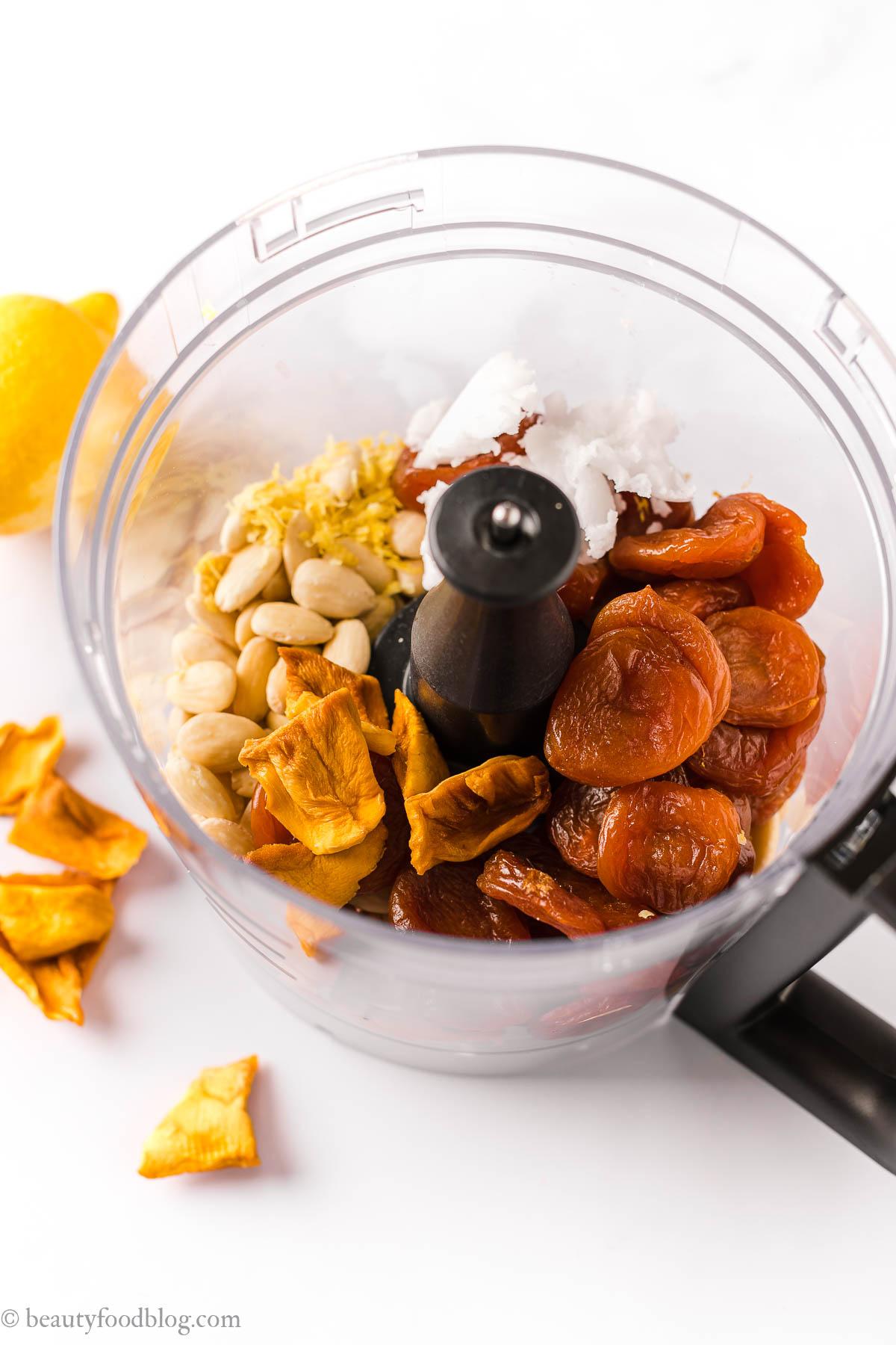 come fare le barrette energetiche alle albicocche e mandorle senza zucchero how to make apricot almond energy bars-sugar free
