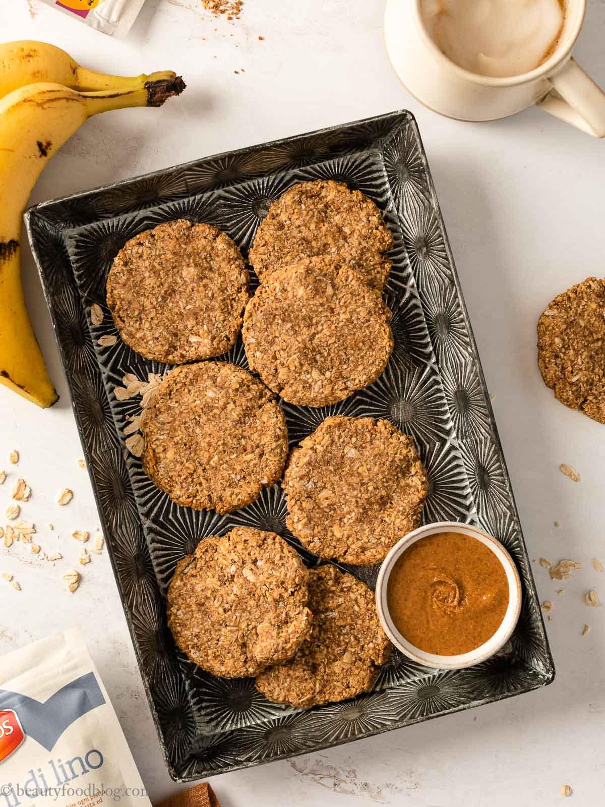 ricetta Biscotti Banana e Avena senza glutine colazione Vegan Breakfast Banana no butter no oil