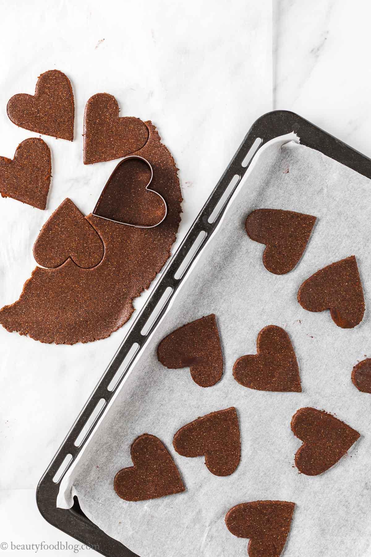 come fare i biscotti Frollini vegani senza glutine al cacao e caffè gluten-free vegan chocolate almond cookies