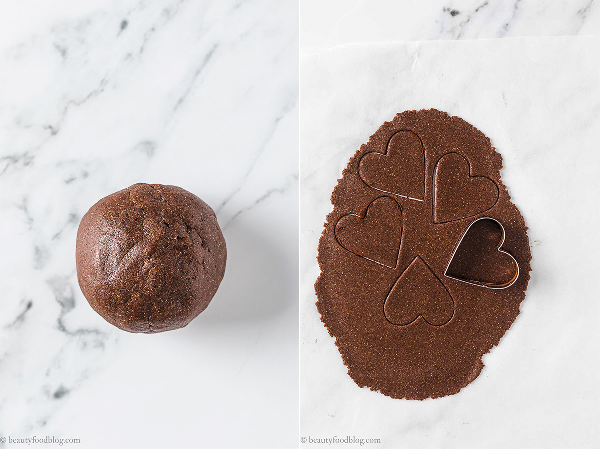 come fare pasta frolla frollini vegani senza glutine al cacao e caffè gluten-free vegan chocolate almond cookies