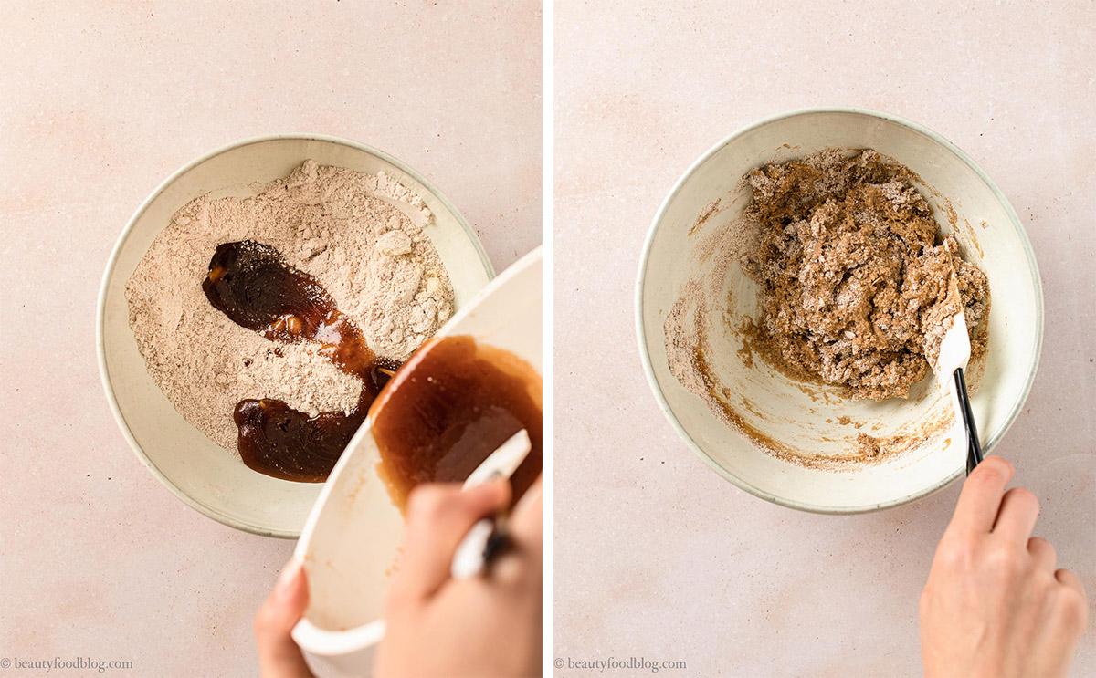 come fare i Biscotti Autunnali Senza Burro Senza Glutine vegani mele e sciroppo d'acero how to make gluten-free vegan maple cookies with applesauce shortbread cookies