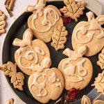 ricetta Biscotti Autunnali Senza Burro Senza Glutine vegani con mele e sciroppo d'acero gluten-free vegan maple cookies with applesauce with maple glaze